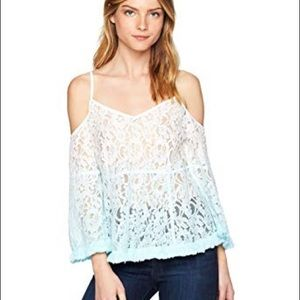 NWT Guess Three quarter Sleeve Nissi Ombré Top